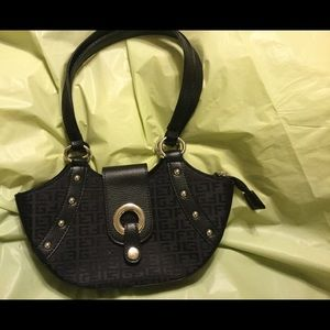 Handbags - Cute half moon bag. Black with silver hardware.